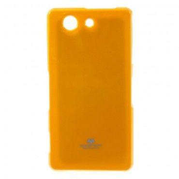 TPU gel maska Goospery Jelly Case za Sony Xperia Z3 Compact - žuta