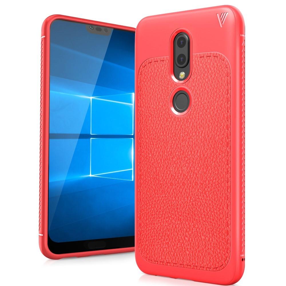 Tpu Gel Maska Litchi Za Nokia 61 Plus Crvena