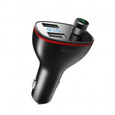 """FM odašiljač i punjač za vozilo s dva USB utora """"Rock"""""""