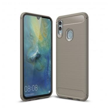 """TPU gel maska """"Brushed Carbon"""" za Huawei Honor 10 Lite -siva"""